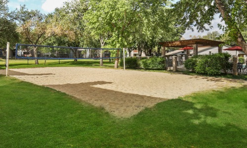 Sand pit volleyball area